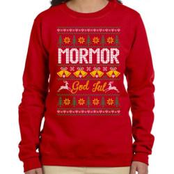 Mormor  Jultröja - Christmas jumper stil röd sweatshirt S