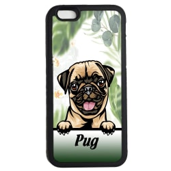 Pug iPhone 7 / 8 & SE 2nd gen'  skal hund gummiskal - mops