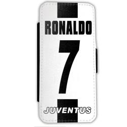 Ronaldo iPhone 7 / 8 Plånboksfodral fodral skal juventus Svart