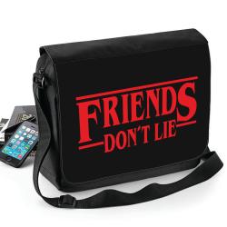 Stranger things - Friends don't lie väska - axelrem - Skolväska Svart one size