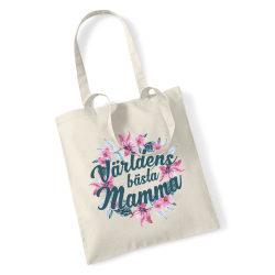 Världens bästa Mamma shopping väska - Tote bag tygkasse