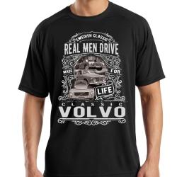 Volvo T-shirt svart vintage stil Volvo t-tröja XL