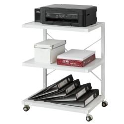 SoBuy Hylla med hjul för skrivare, Rullbord FRG81-W White. W55 x D40 x H70cm