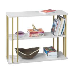 SoBuy Soffbord, Tv-bänk, Förvaringsbord,vardagsrumsbord FBT96-G White And Gold
