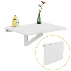 SoBuy Väggmonterat klaffbord Skrivbord,Matbord Barbord FWT03-W vit 60cm x 40 cm