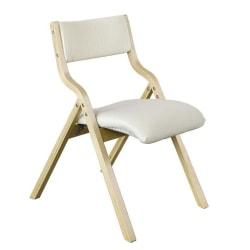 SoBuy hopfällbar stol köksstol med vadderad sittyta FST40-W