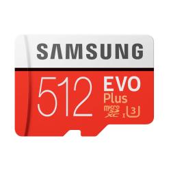 512GB Samsung EVO Plus MicroSDXC med SD-adapter, 100MB/s