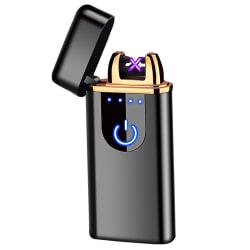 Kompakt Elektrisk tändare med fingeravtryck sensor svart