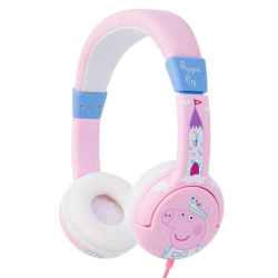 Prinsessan Peppa Hörlur Junior, On-Ear, 85dB, vit/rosa rosa