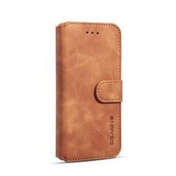 DG.MING Retro fodral med ställ, kortplats, iPhone 8, brun
