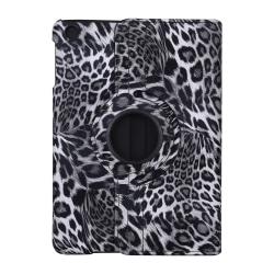 Leopard Läderfodral med roterbart ställ, iPad Mini 2/3 grå
