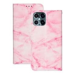 Marmorerat läderfodral, Iphone 12/12 Pro Rosa