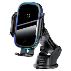 Baseus Light Elektrisk bilhållare med Qi-laddning,15W, svart