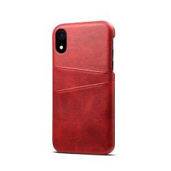 Skal med 2 kortplatser till iPhone XR 6.1 röd