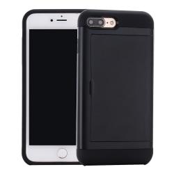 Skal med sedelfack, iPhone 8 Plus, svart svart