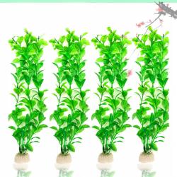5st konstgjord grön tångvattenväxt akvariedekoration 5pcs