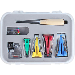 16st Multifunktionellt tyg Bias Tape Maker Set Tool Sewing Maker as the picture