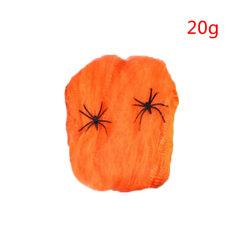 20g Halloween Stretchy Spider Web Horror Spindelnät rekvisita dekoration orange