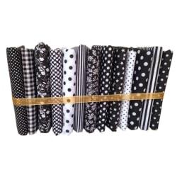 50x50cm svart serie bomullssömnad handarbete DIY lapptyg 13pcs