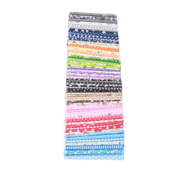56st handgjord bomullspatchwork tygfärg slumpmässig 56pcs