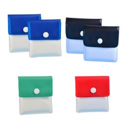 6st bärbar ficka askkopppåse återanvändbar myntväska 6pcs
