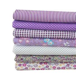 7st / uppsättning DIY Flower Printed Patchwork Sewing Purple 50 * 50CM NO.15