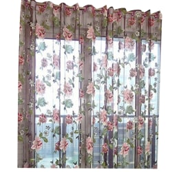 Blommönster Tyll Voile Curtain Drape Panel Sheer Valances as the picture