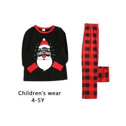 Christmas Family Pyjamas Set Round Collar Top Pants Sleepwear for kids 4-5Y