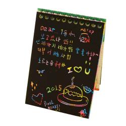 Dazzle Scratch Note Sketchbook Graffiti Coils Drawing Paper color random