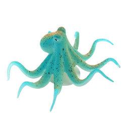 Fluorescerande konstgjord bläckfisk akvarium akvarium dekoration Blue