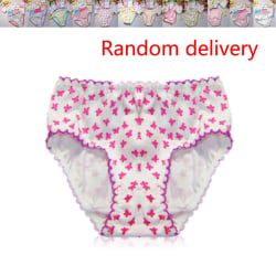 Flickor Underkläder Trosor Briefs Barnbyxor Barn random color for 3-4Y 1pc
