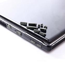 Portportskydd för bärbar dator Dammtät skydd för datorportplugg black 1set