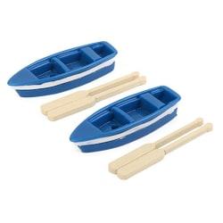Miniature Fairy Garden Blue Boat Oars Mini Decor Accessories Kit as the picture