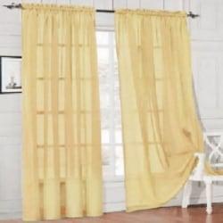 Nya fönsterridåer i enfärgad Voile Sheer Curtain Panel NO.12