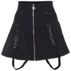 Kjol hög midja kort byst kjol kvinna sexig punk minikjol M