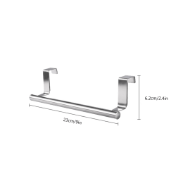 Handduksställ över dörren Handdukstång Hängande hållare Hänghängare 23*6.2cm