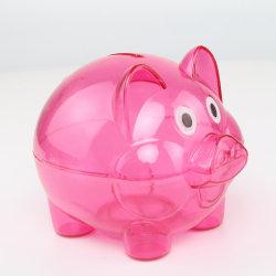 Transparent pengar sparande kassett mynt Piggy tecknad gris formad rose red L