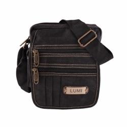 Liten väska, canvas / tyg Svart one size