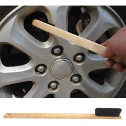 40cm bamboo borste för rengöra fälgar motordelar  Transparent one size