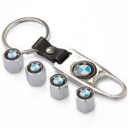 Bmw logo ventilhattar i med nyckelring Silver one size