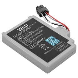 Batteri till Nintendo Wii U 1500mAh Svart one size