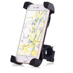 Cykelhållare cykelfäste för mobiltefon universal 360 graders Svart