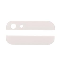 iPhone 5 Vit topp och botten glas för baksida Vit