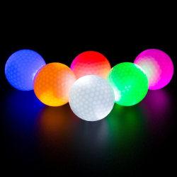 Lysande golfbollar, 3-pack multifärg one size
