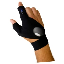 Magic handske Vänster ficklampa du inte kan släppa Svart