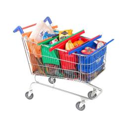 Shoppingväskor till kundvagnen, Shoppingkassar, Trolley Bags Röd one size