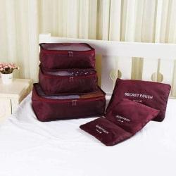 Vinröd 6st Insatser till resväskor Röd one size