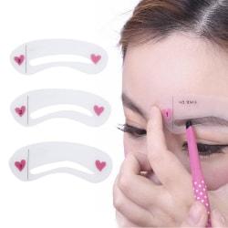 Ögonbryn Mall / Ögonbrynsform / Stencil - 3 olika former