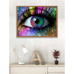 Diamond Painting / DIY 5D Diamantmålning - 30x40cm - Öga