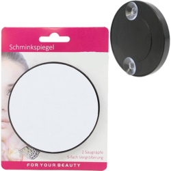Sminkspegel med Sugkopp / 9cm Förstoringsspegel - Smink Spegel